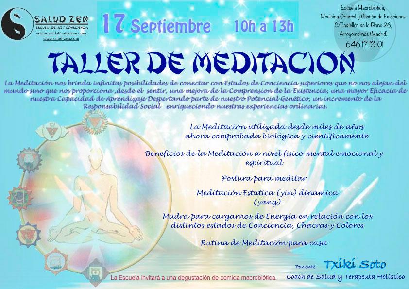¡Nueva fecha para Taller de Meditación!