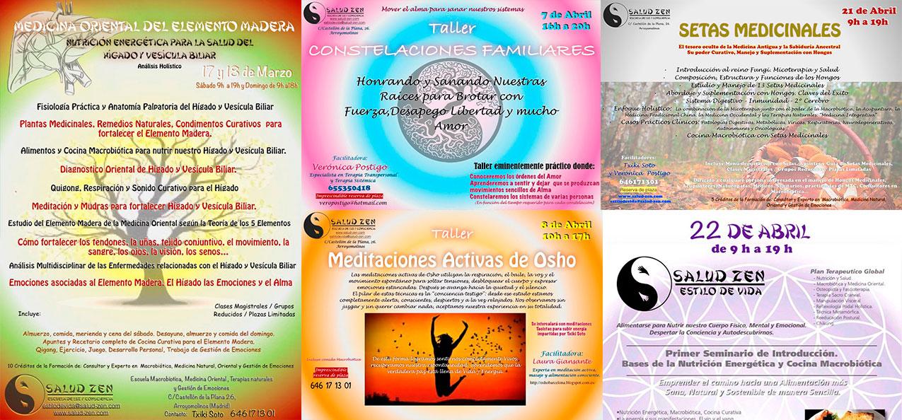Próximos talleres y cursos Marzo y Abril 2018