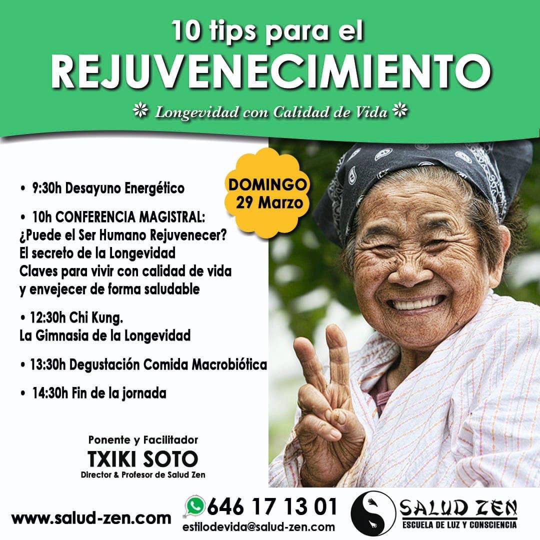 10 tips para el Rejuvenecimiento - Longevidad con calidad de vida -