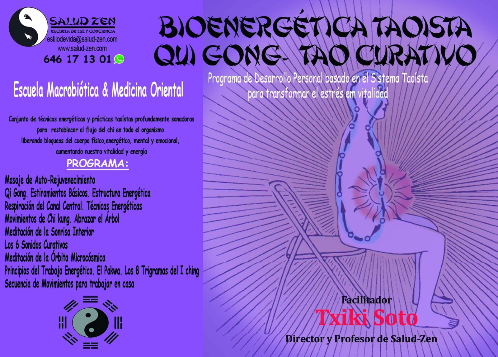 Programa de Desarrollo Personal basado en el Sistema Taoista para transformar el estrés en vitalidad. Bioenergética. Taoísta. Qui-Gong - Tao Curativo