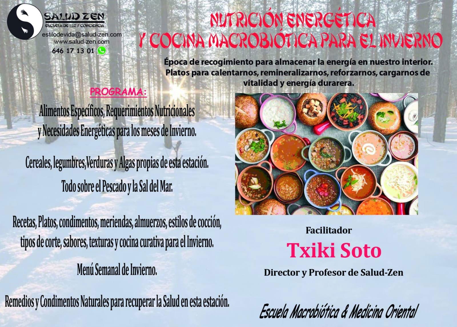 Nutrición Energética y Cocina Macrobiótica para el Invierno