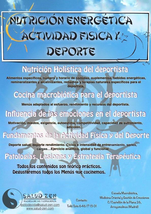 Cursos - Curso de Nutrición Energética, Actividad Física y Deporte