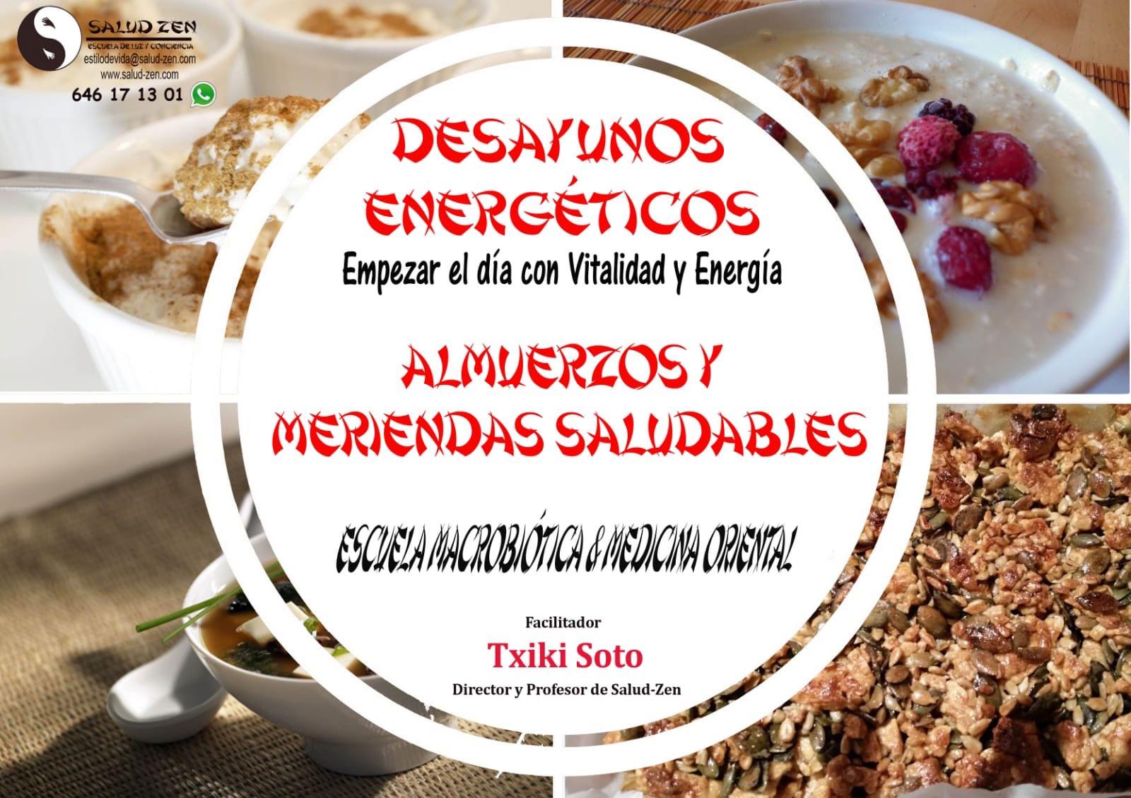 Curso de DESAYUNOS ENERGETICOS. ALMUERZOS Y MERIENDAS SALUDABLES