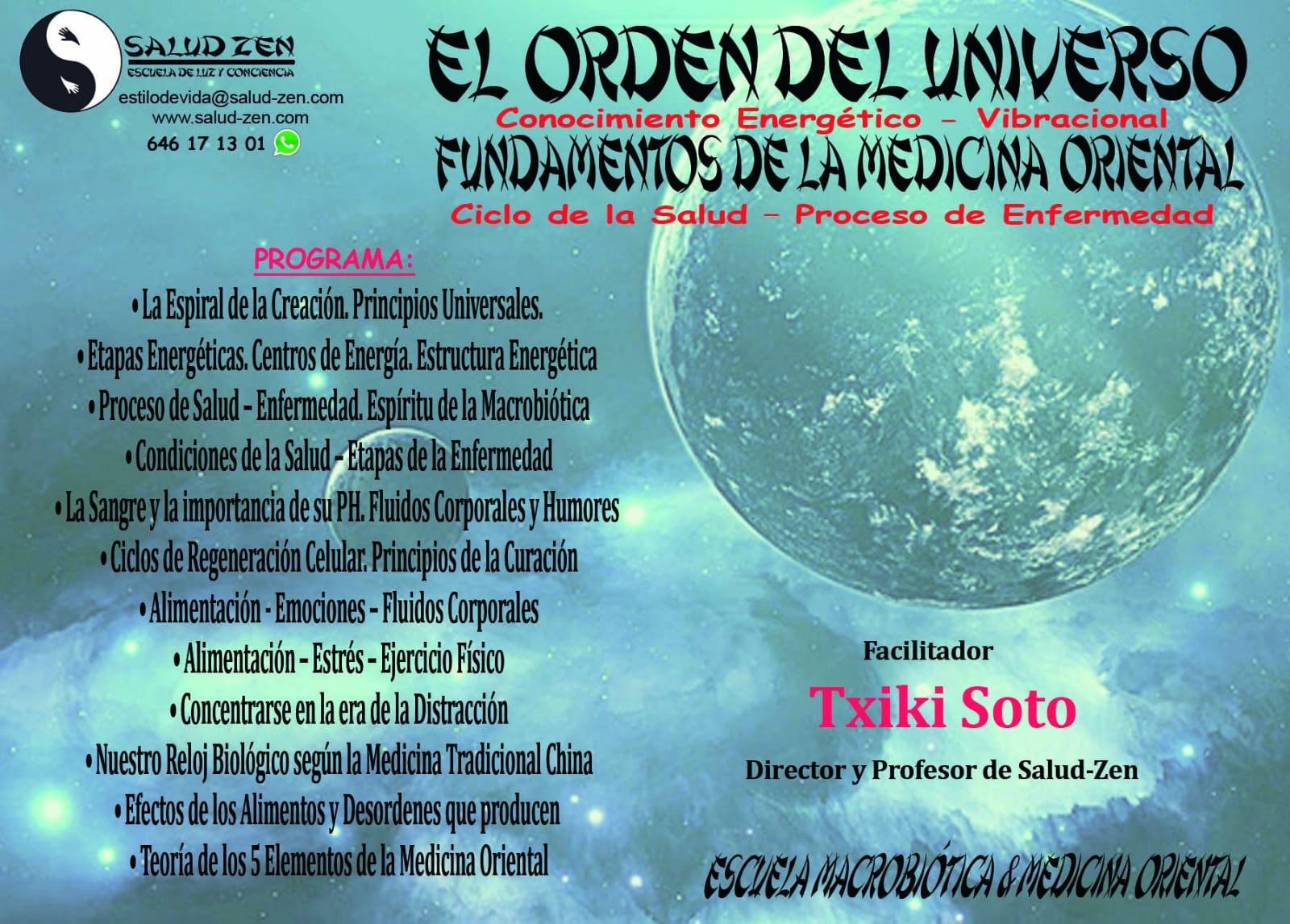 Curso-Fundamentos de las Medicina Oriental. El orden del Universo.