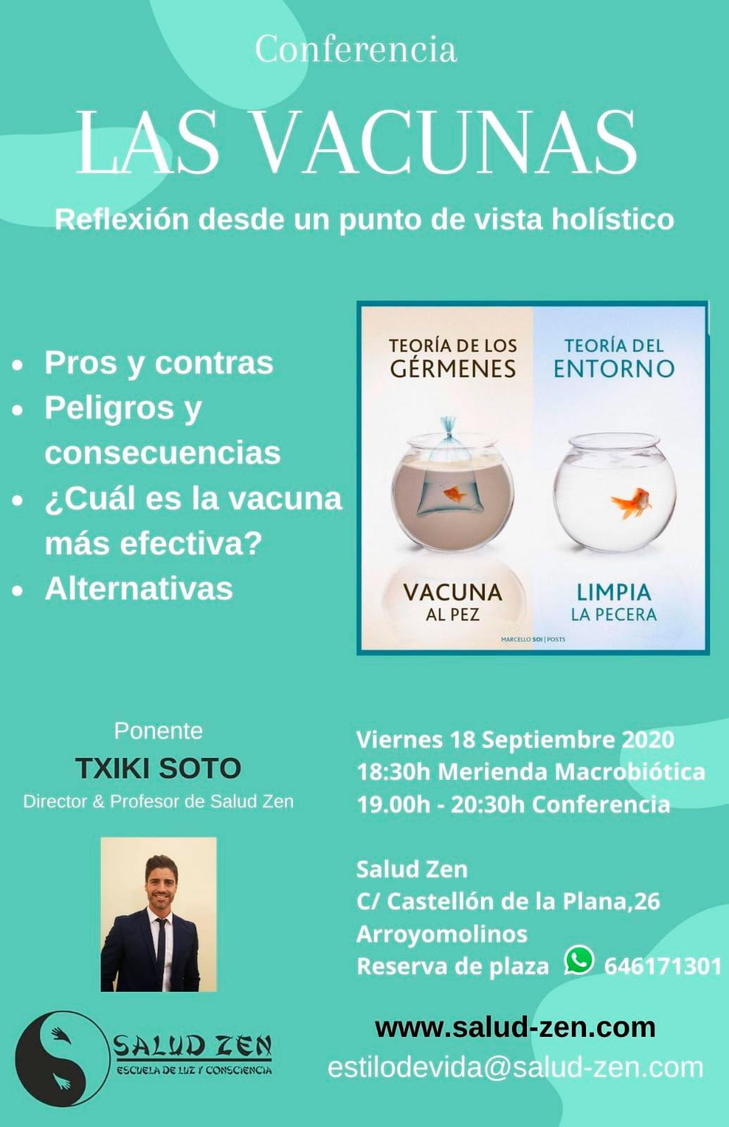 Conferencia - Las Vacunas. Reflexión desde un punto de vista holístico