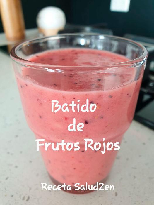 Receta-Batido de Frutos rojos