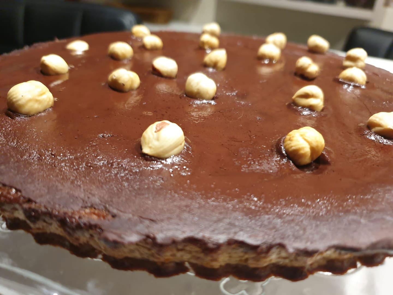 Receta - TARTA DE CHOCOLATE CON AVELLANAS!!